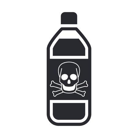 Vector illustration of single isolated dangerous bottle icon Stock Vector - 12119869
