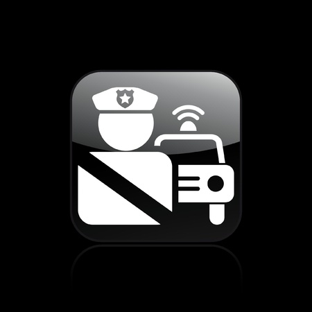 Vector illustration of single isolated police icon Vector