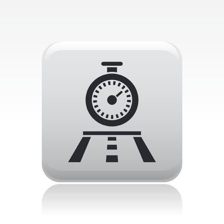 chronometer: Vector illustration of single isolated chronometer race icon Illustration