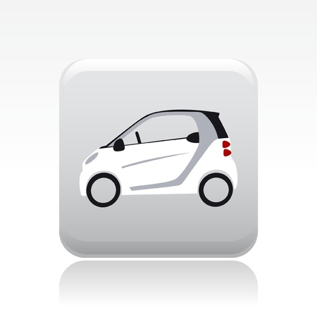 mini car: Vector illustration of single isolated small car icon Illustration