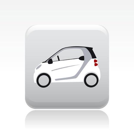 Vektor illustration av enstaka isolerade liten bil ikonen