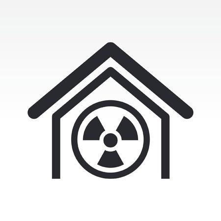 Vector illustration of single isolated radioactive icon Stock Vector - 12117366