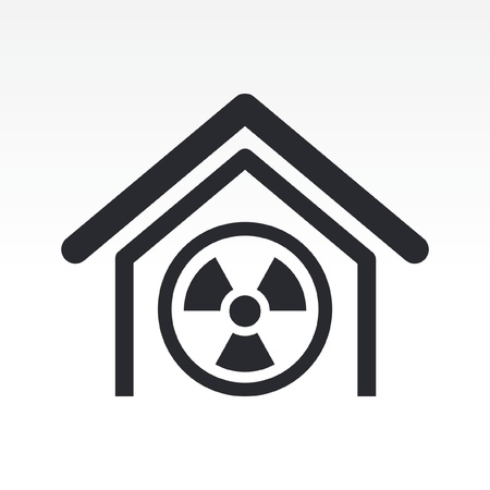 Vector illustration of single isolated radioactive icon Stock Vector - 12117366