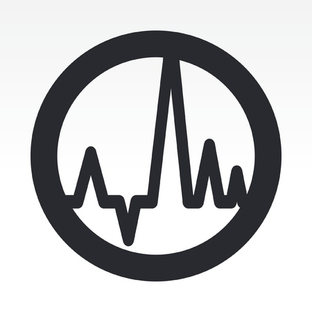Vector illustration of single isolated audio wave icon Illusztráció
