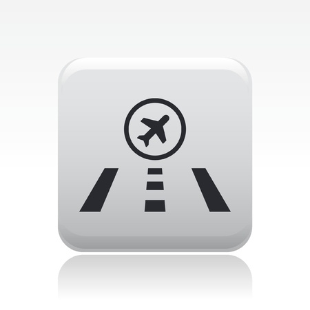 airstrip: Vector illustration of single isolated airstrip icon