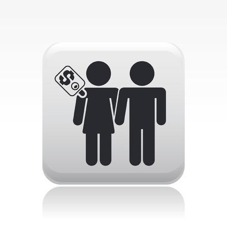 prostitue: Vector illustratie van enkele geïsoleerde prostitutie icoon