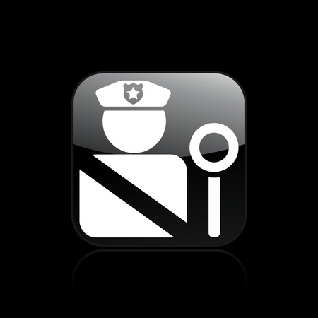 Vector illustration of single isolated police icon Stock Vector - 12122300
