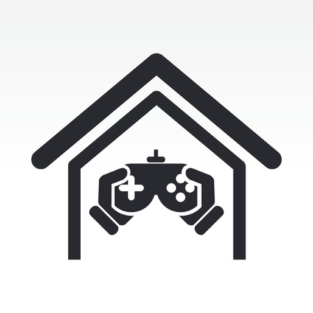 videogame: Vector illustration of single isolated videogame icon
