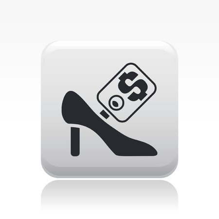 Vector illustration of single isolated shoe sale icon Stock Vector - 12119911