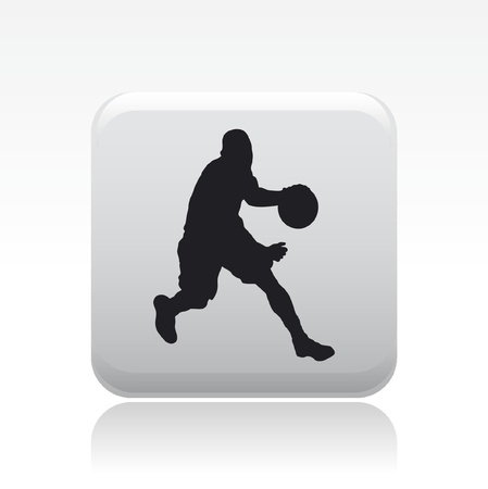 Vector illustration of single isolated basketball player icon Vector