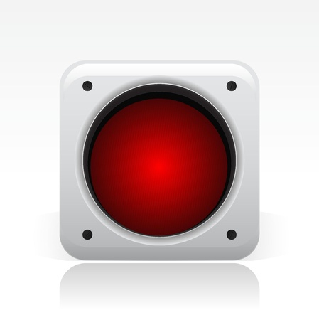 Vektor illustration av enstaka isolerade trafikljus ikonen