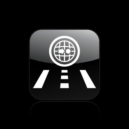 navigate: Vector illustration of single navigate icon Illustration