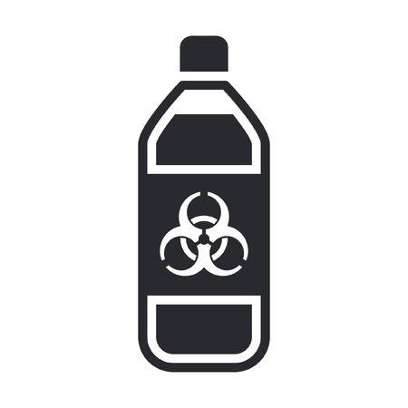Vector illustration of single isolated dangerous bottle icon Stock Vector - 12119828