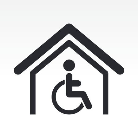 handicapped: Vector illustration of single isolated handicap icon