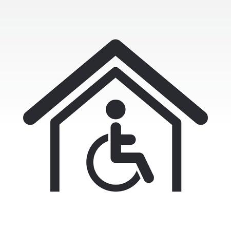 handicap: Vector illustration of single isolated handicap icon