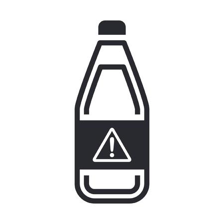 Vector illustration of single isolated dangerous bottle icon Stock Vector - 12119827