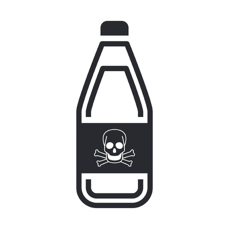 Vector illustration of single isolated dangerous bottle icon Stock Vector - 12119872