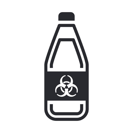 Vector illustration of single isolated dangerous bottle icon Stock Vector - 12119831