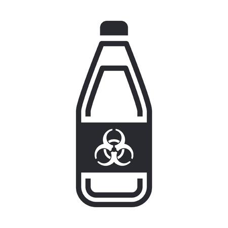 Vector illustration of single isolated dangerous bottle icon Stock Vector - 12119831