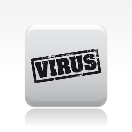 spyware: Vector illustration of single isolated pc virus icon Illustration