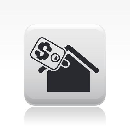 icone immobilier: Vector illustration de seule ic�ne propri�t� isol�e r�el