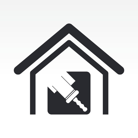 Vector illustration of single isolated home paint icon Stock Vector - 12117368