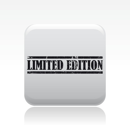 exclusive: Vector illustration of single isolated limited edition icon Illustration