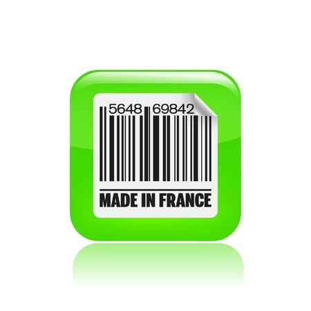 french label: Ilustraci�n vectorial de un solo icono aislado sello franc�s Vectores