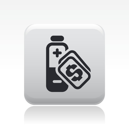 Vector illustration of single isolated energy price icon