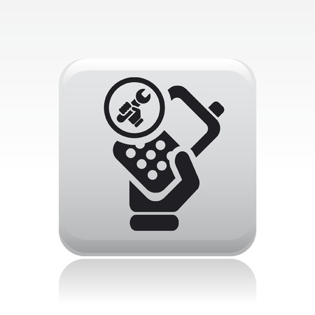 reparations: Vector illustration of single isolated phone repairer icon Illustration