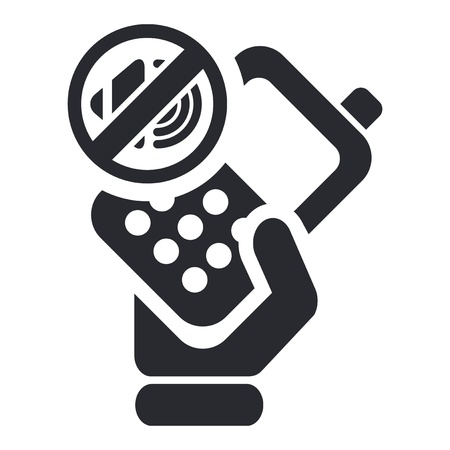 cellulare: Vector illustration of single isolated mute phone icon