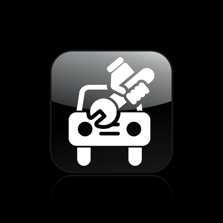 Vector illustration of single isolated car repair icon Stock Vector - 12122427