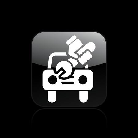 broken car: Vector illustration of single isolated car repair icon Illustration
