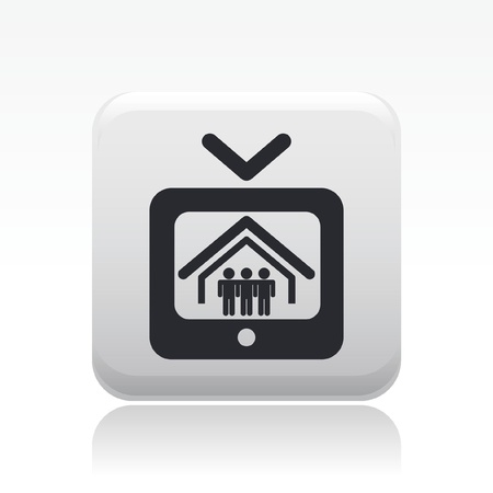 Vector illustration of single isolated reality icon Vectores