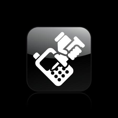 reparations: Ilustraci�n vectorial de un solo taller de reparaci�n de icono de tel�fono aislado