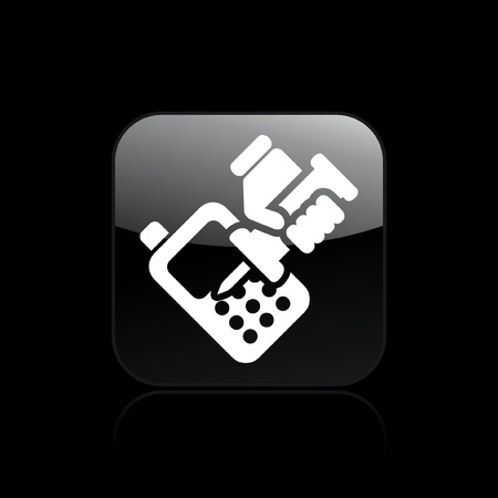 Vector illustration of single isolated phone repairer icon Stock Vector - 12122441