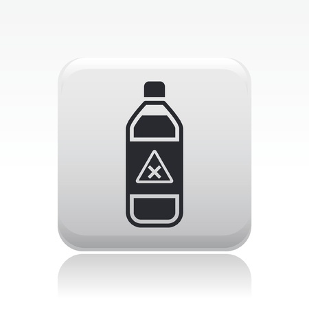 Vector illustration of single isolated dangerous bottle icon Stock Vector - 12121710