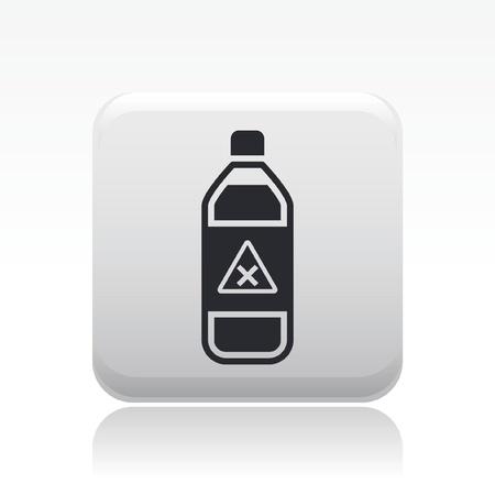 Vector illustration of single isolated dangerous bottle icon Stock Vector - 12121710