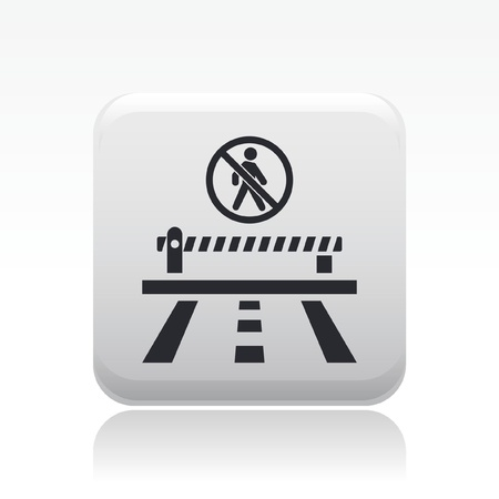 Vector illustration of single isolated access forbidden road icon Vector