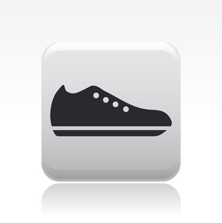 snickers: Vector illustration of single isolated shoe icon