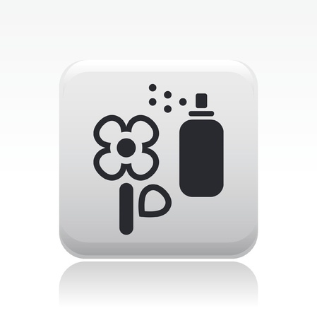 herbicide: Vector illustration of single isolated flower spray icon Illustration
