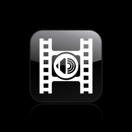audio player: Vector illustration of single isolated audio player icon