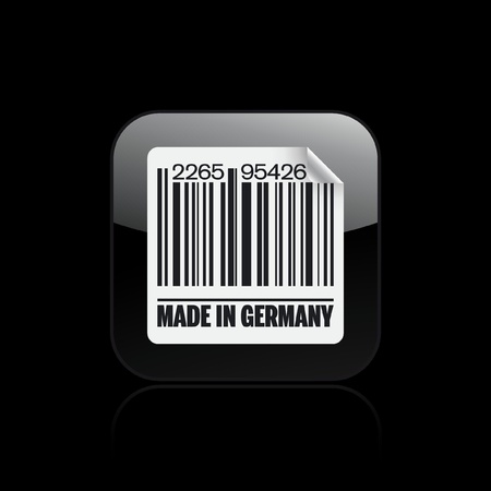 Vector illustration of single isolated Germany barcode icon Vector