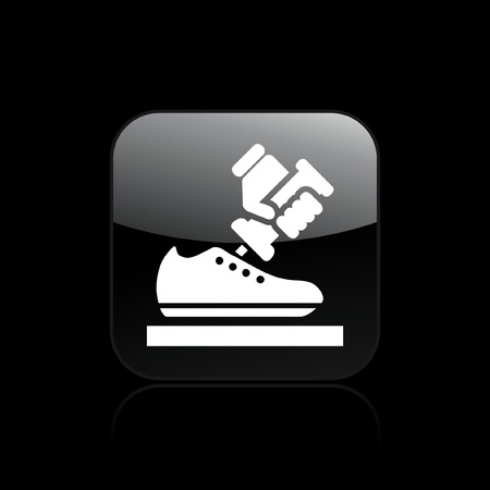 shoe repair: Vector illustration of single isolated shoe icon