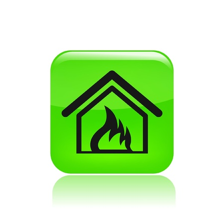 Vector illustration of single isolated danger icon  Stock Vector - 12122588