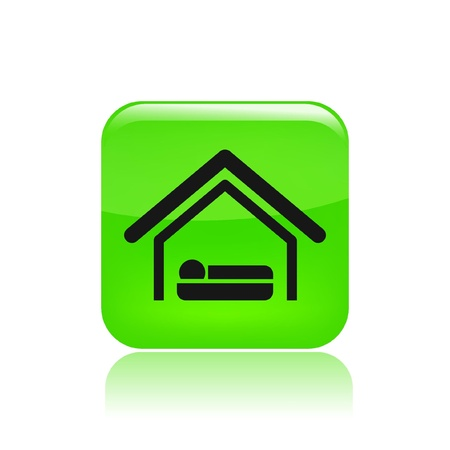 Vector illustration of single isolated hotel icon Stock Vector - 12122521