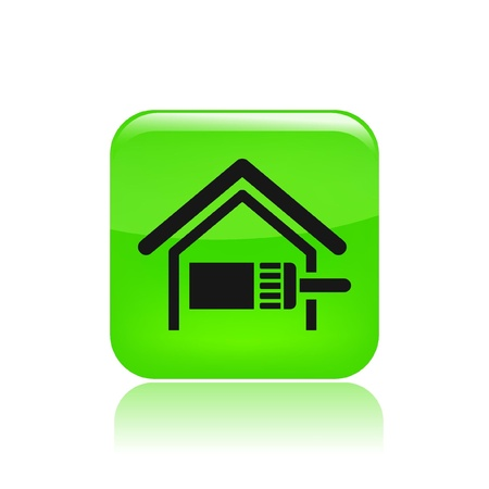 house painter: Vector illustration of single isolated home paint icon