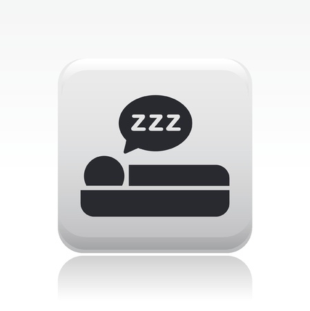 breakfast in bed: Vector illustration of single isolated sleep icon