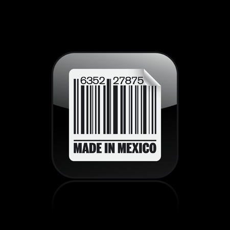 import trade: Vector illustration of single isolated Mexico icon