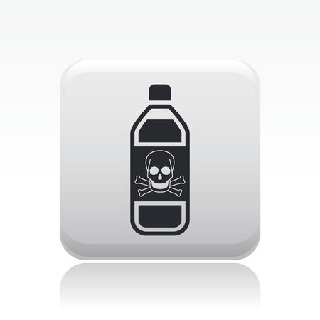 demise: Vector illustration of single isolated dangerous bottle icon